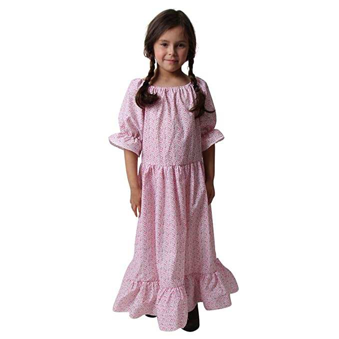 8e1fa5698d44 Amazon.com: Making Believe Girls Calico Print Floral Pioneer Dress ...