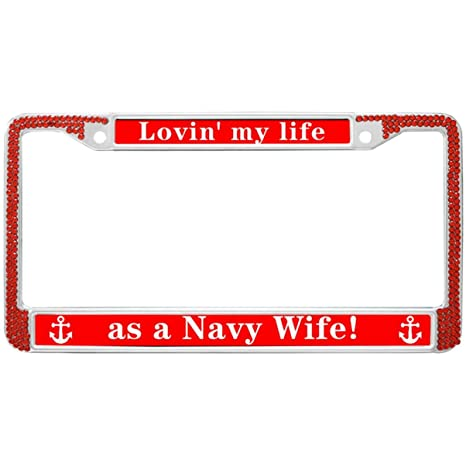 Amazon.com: Army Wife Quotes Rhinestone Car License Plate ...