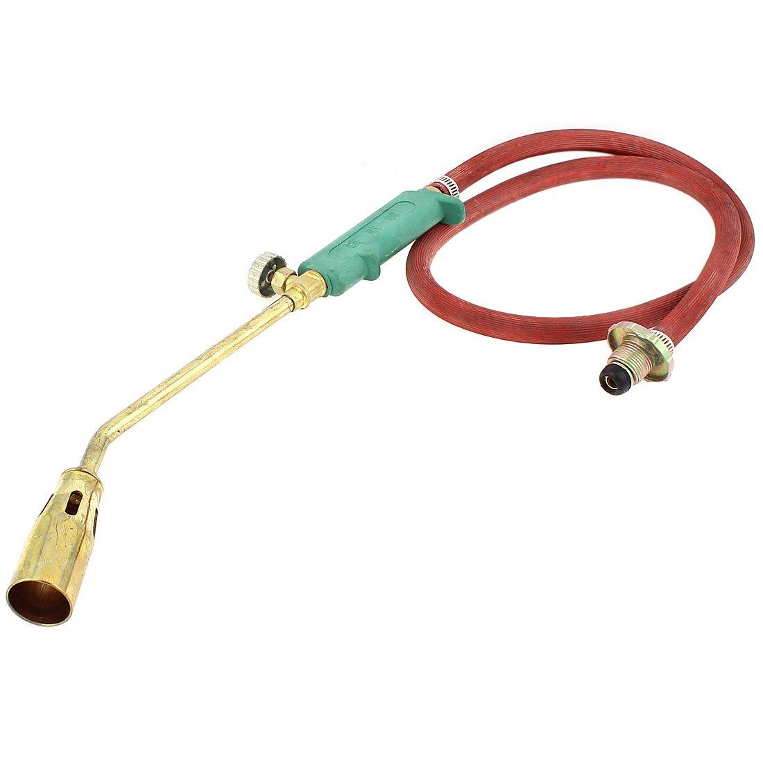 Sourcingmap A15062900ux0029Plastique Grip Tube à gaz Liquéfié Chalumeau allumage Piézo–Doré/Rouge/Vert