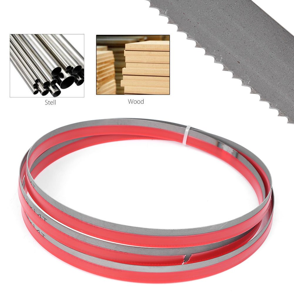 Timmart 70-1/2'' x 1/2'' x 0.025'' 14 TPI Bi-metal Band Saw Blades for Cutting Metal 70.5''