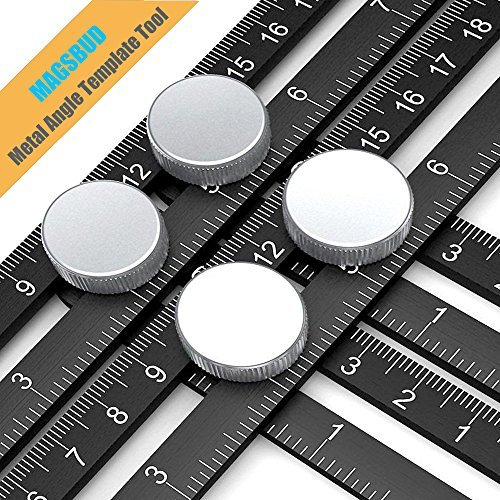 Magsbud Template Tool, Professional Aluminum Alloy Multiple Angle Measurement Tool for Handymen, Craftsmen, Builders and Students, 4-Sided Multi-Angle Measurement tool