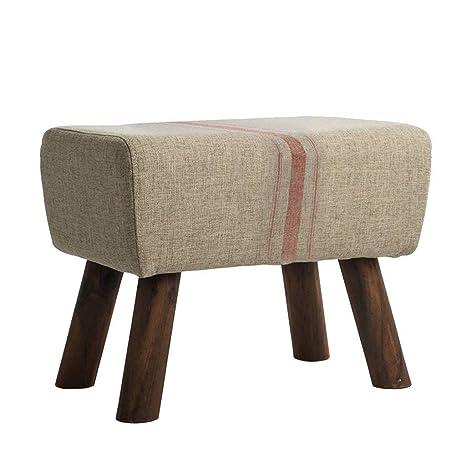 Fabulous Amazon Com Footstool Sofa Stool Wooden Bench Ottoman Seat Cjindustries Chair Design For Home Cjindustriesco