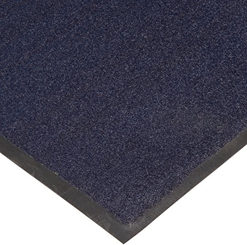 M+A Matting 395 Brush Hog Nylon Fiber Entrance Outdoor Floor Mat, SBR Rubber Backing, 3' Length x 2' Width, Navy Brush