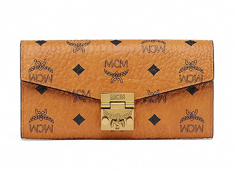 【エムシーエム】 MCM 脱着チェーンストラップショルダーバッグ兼用長財布二つ折り財布 2 Fold Long Wallet With Chain Cognac [並行輸入品] B076KXV4M9