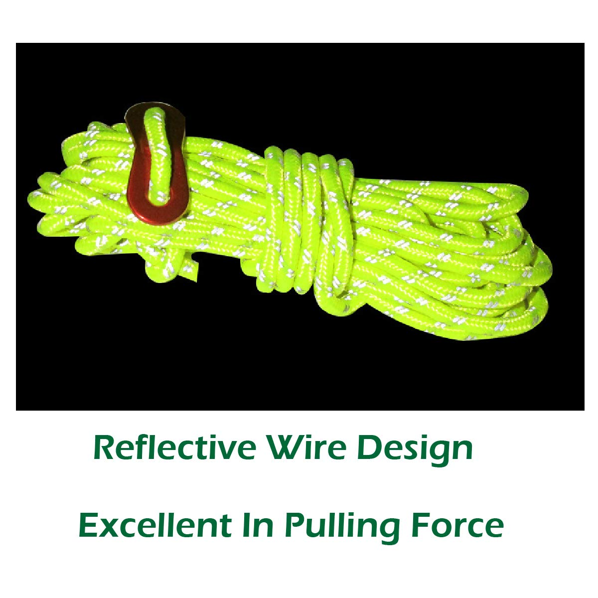 Outdoor Packaging Tent Nylon Cord Paracord with Rope Adjuster for Camping Tent Azarxis Reflective Guyline Rope Pack of 6