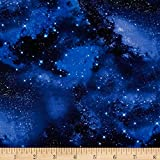 quilting fabric with 5 stars - Timeless Treasures Space Galaxy Fabric By The Yard