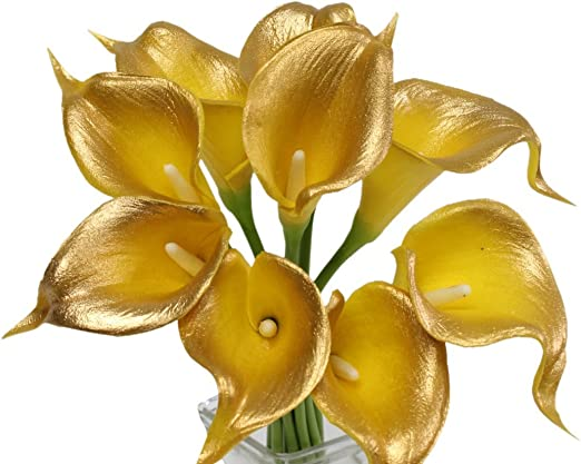 Amazon Com Angel Isabella 10pc Set Of Real Touch Calla Lily