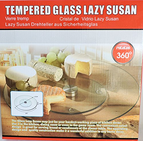 handy helpers Bulk Buys Tempered Glass Lazy Susan (Square Tempered Glass Plate)