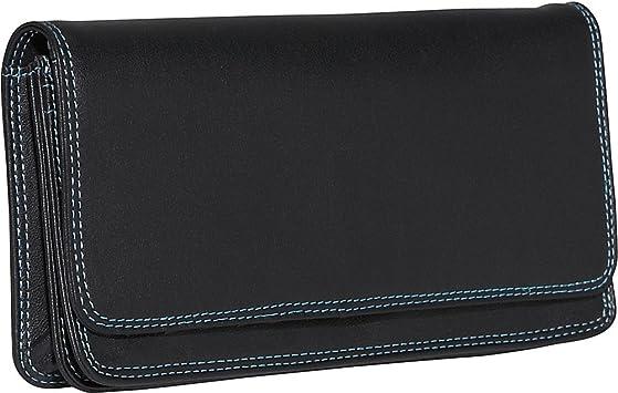 Black BelArno Small French Multi Color Wallet in Black Rainbow Combination