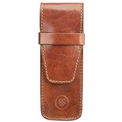 a24dd16f3077 Maxwell Scott Slim Italian Crafted Leather Pen Cover - Pienza Tan ...