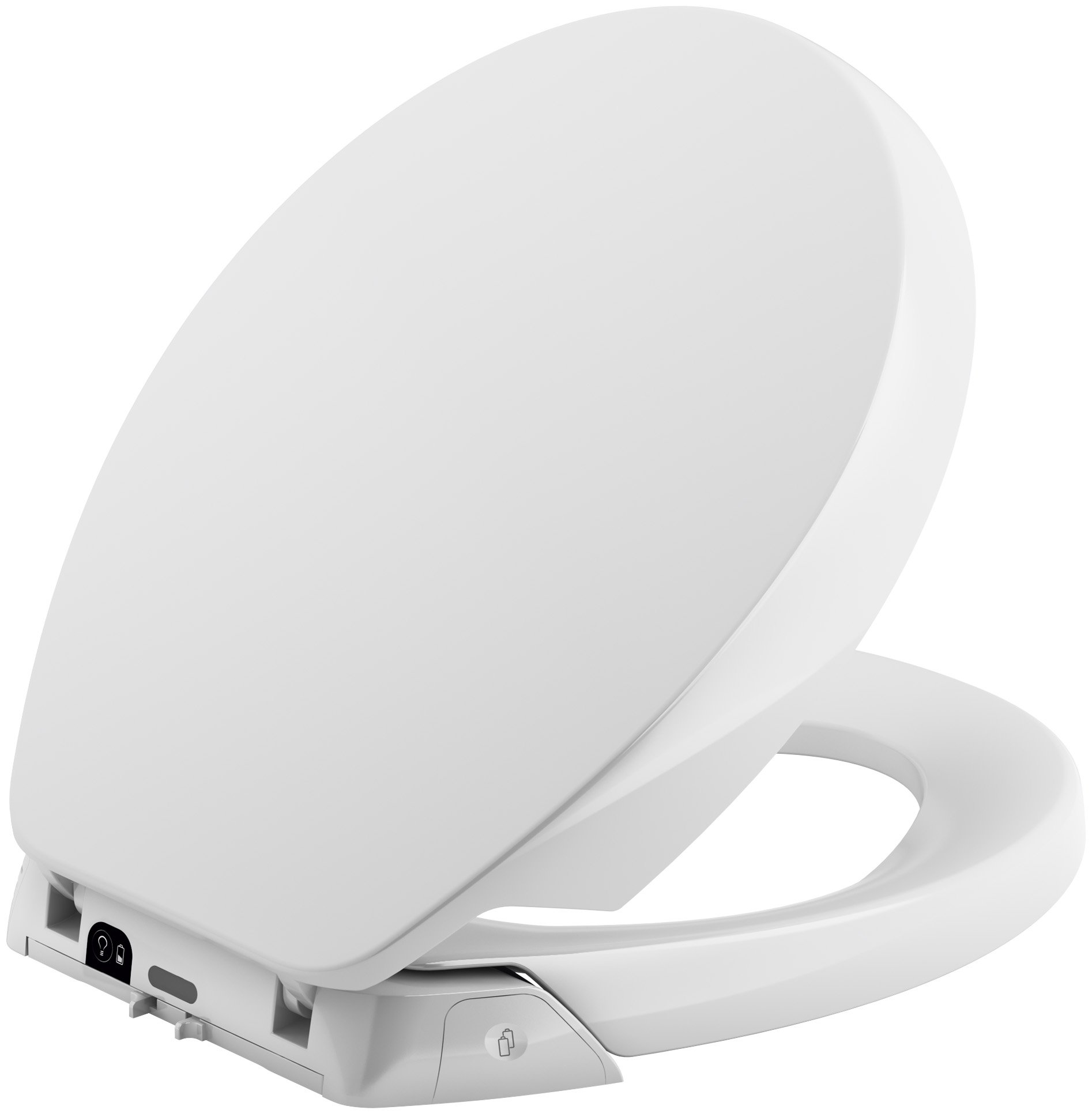 KOHLER K-5589-0 Purefresh Quiet-Close with Grip-Tight Bumpers Round-front Toilet Seat, White