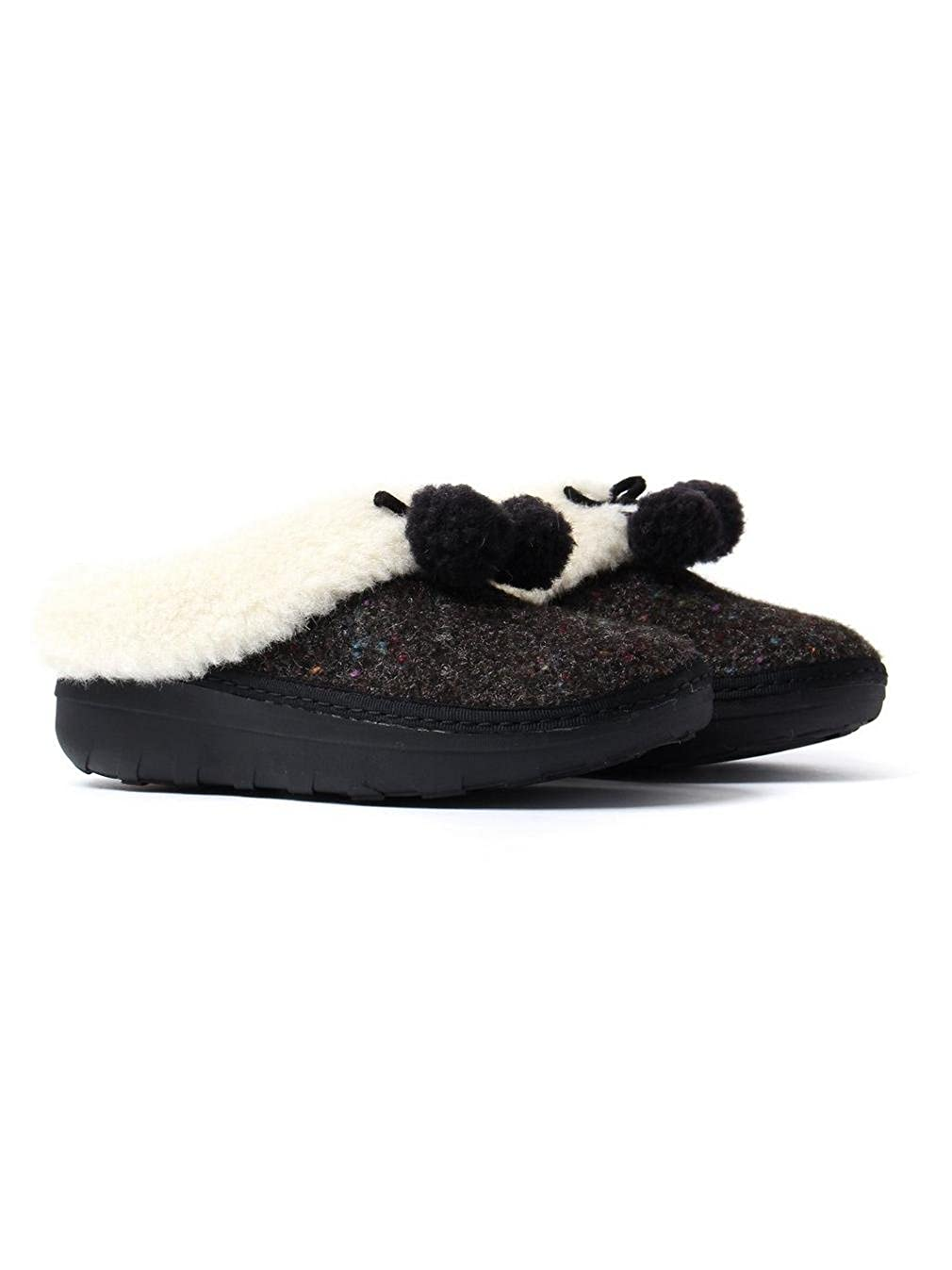 FitFlop Snug Loaff Snug FitFlop Pom Slippers Schwarz a3b020