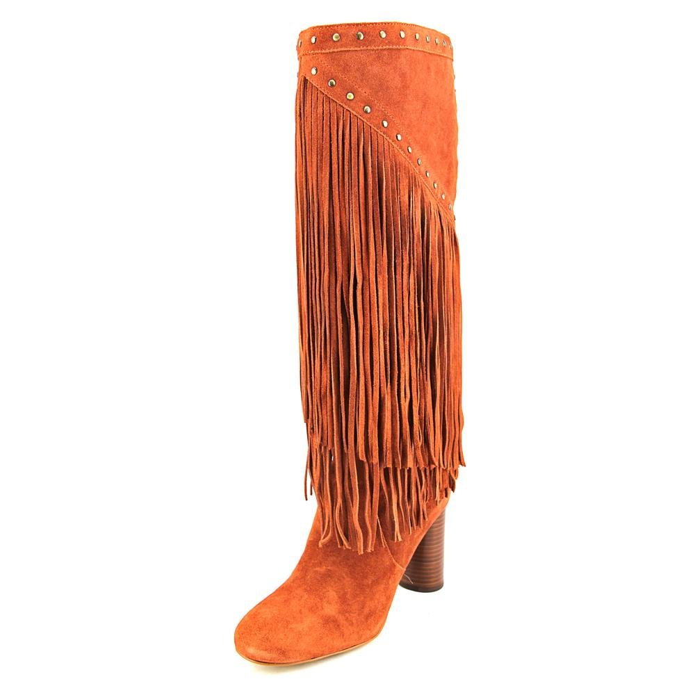INC International Concepts Womens Tolla Leather Closed Toe Knee High Cowboy B. Spiced Orange