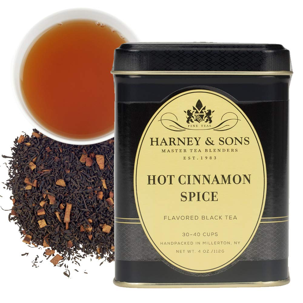 Harney & Sons Loose Leaf Black Tea, Hot Cinnamon Spice, 4 Ounce