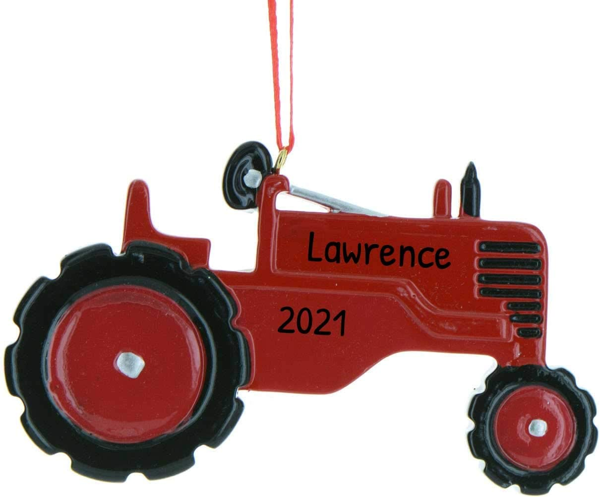 Road To Christmas  2020 Trailer Amazon.com: Personalized Red Tractor Christmas Tree Ornament 2020