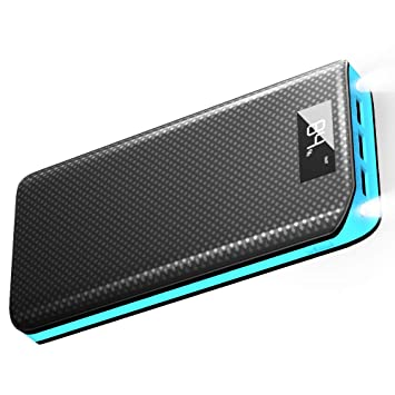 Baterias Externas X-DRAGON 20000mAh Power Bank con 3 Puertos USB, LED Brillante Cargador Móvil Portátil para iPhone X/8 Plus/7/6/5, Movil, Huawei, ...
