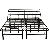 Classic Brands Hercules Heavy-Duty Adjustable Platform 14-Inch Metal Bed Frame | Mattress Foundation or Box Spring, Twin