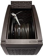 Suncast RSW125D Mocha Wicker 125-Foot Capacity Touch and Go Hose Reel