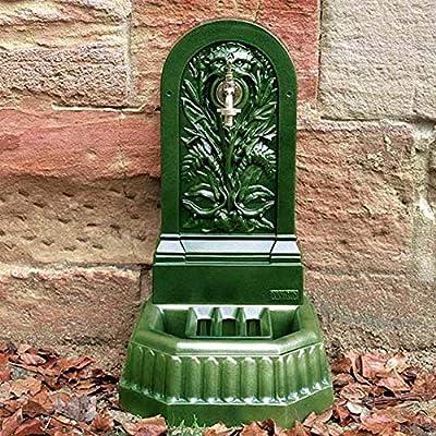Fuente de pared de jardín Triton verde Inglés: Amazon.es: Jardín