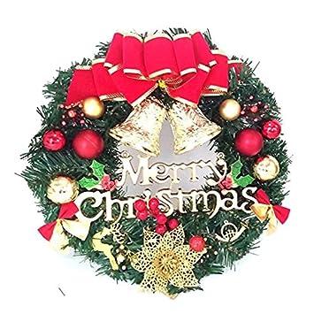 Amazon.com: Christmas Wreaths Garland Ornament, Merry Christmas ...