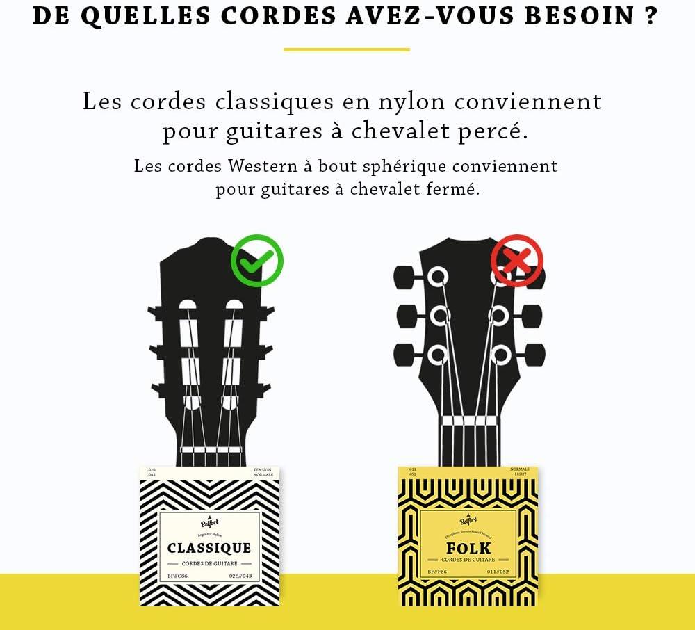 Cuerdas de nailon de primera calidad para guitarra clásica ...