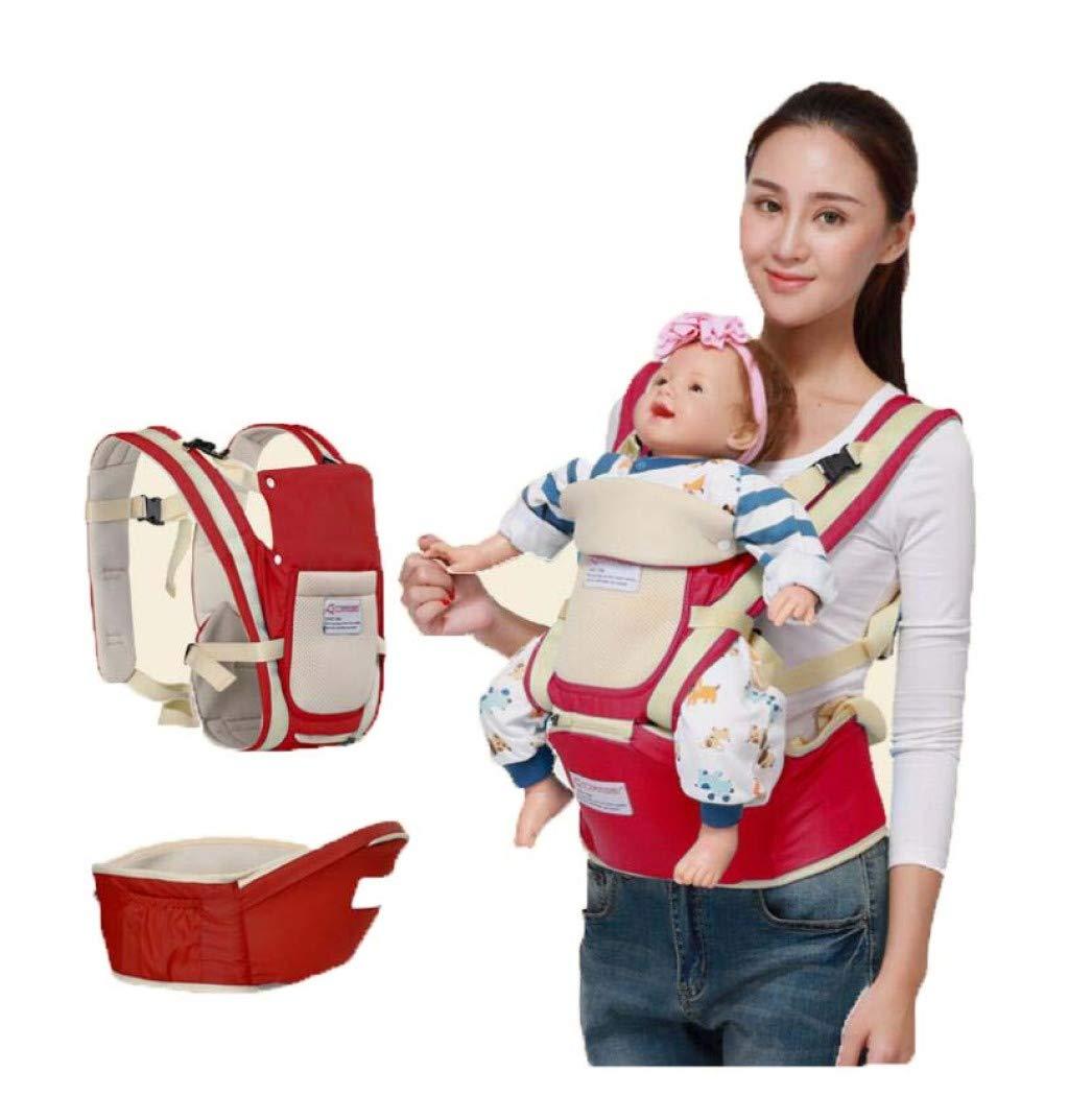 Baby-Schlinge, ergonomische Baby-Träger, Baby-Gurt-Taille Schemel, abnehmbarer Bügel, Baby-Bügel-Baby, das Schemel-Gurt, Vierjahreszeiten-Universal-Taillen-Schemel hält,ROT