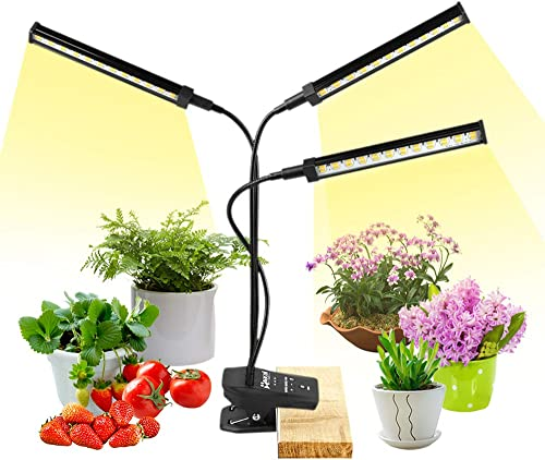 Grow Lights for Indoor Plants, NaCot LED Floor Full Spectrum Plant Light with Stand and Auto ON Off Timer, Plant Grow Lamp for Seed Starting Plants Growth with Adjustable Gooseneck Tripod 20