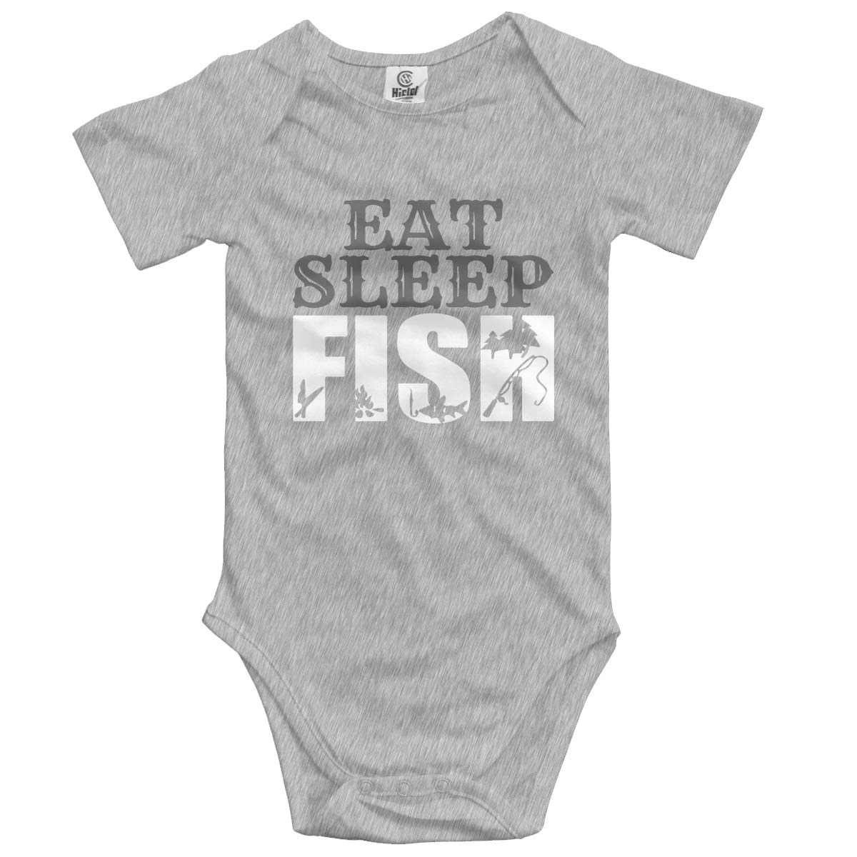 Eat Sleep Fish 2-1 Baby Boys Or Girls 100/% Organic Cotton Layette Bodysuit 0-24M