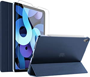 ProCase iPad Air 4 Case 10.9 Inch 2020 with Tempered Glass Screen Protector, Slim Stand Hard Shell Protective Smart Cover for iPad Air 4th Generation 10.9