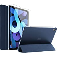 ProCase iPad Air 4 Case 10.9 Inch 2020 with Tempered Glass Screen Protector, Slim Stand Hard Shell Protective Smart…