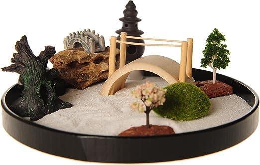 Jardin zen Icnbuys avec lot d\'accessoires et outils pour réaliser votre  propre jardin, Métal, J