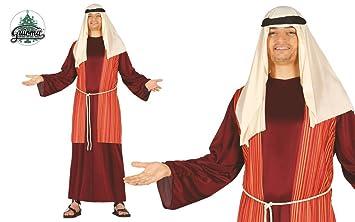 GUIRMA Traje Pastor belén, Color Marrón/Rojo/Beige, Talla única Adulto, 42417