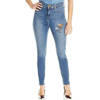 3c6da31623 YUYU Cartoon Bike Denim Women's Juniors Slim Fit Stretchy Skinny Jeans at  Amazon Women's Jeans store