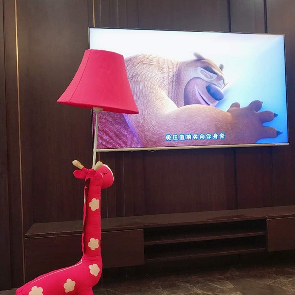 Estudio creativo de la jirafa de dibujos animados Lámpara nórdico princesa caliente lindo dormitorio de la lámpara de pie de la personalidad moderna sala de estar lámpara de cabecera ( Color : Pink ) Pink