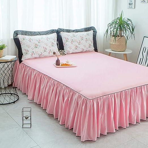Algodón Faldas de la cama Con Envolver alrededor de estilo,Ruffled ...