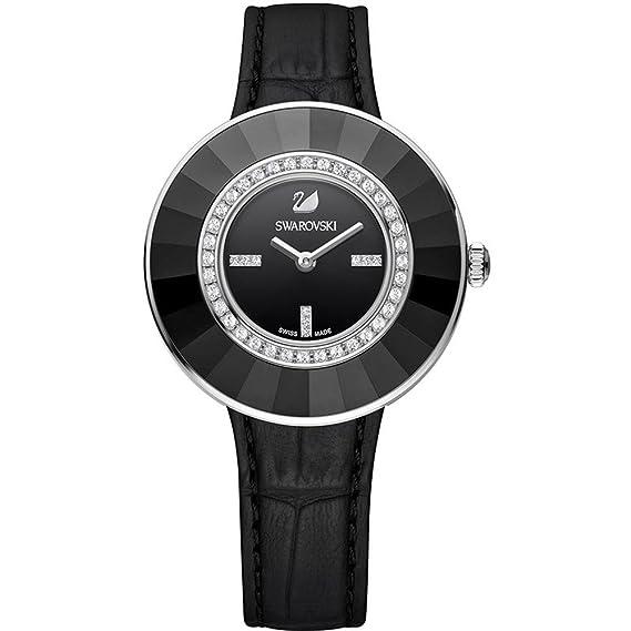 Swarovski Reloj analogico para Mujer de Cuarzo con Correa en Piel 5182252: Amazon.es: Relojes