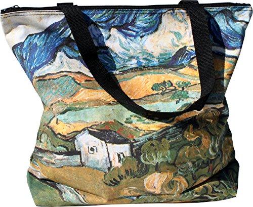 RaanPahMuang Large Shopping Tote Bag Cloudy Farmland by Vincent Van Gogh Review