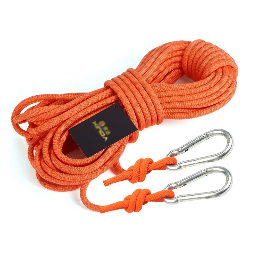 - HH- Escalade Corde Corde d'escalade Corde S'élevante De 6mm 10m   20m   30m   40m   50m, Corde Multifonctionnelle De Sécurité De Cordon pour La Délivrance du Feu Randonnée Camping 40m