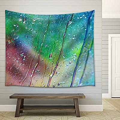 Fascinating Object of Art, Water Drop on Glass Fabric Wall, Made to Last