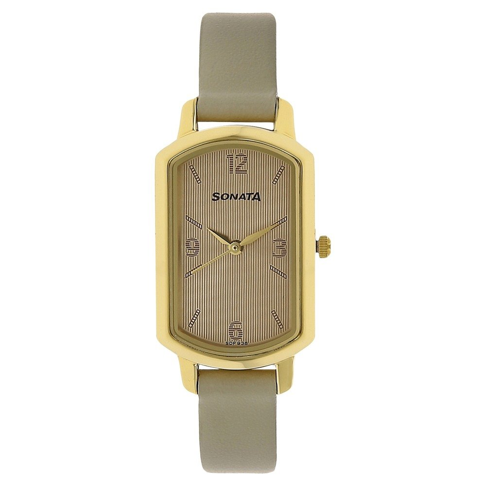 4d2ec075ab7 Buy Sonata Analog White Dial Women s Watch-NK8139YL02 Online at Low Prices  in India - Amazon.in