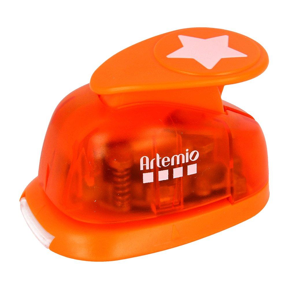 Arancione Artemio-2,5 cm Colore Motivo Star-Punzonatrice a Forma di Numero 2