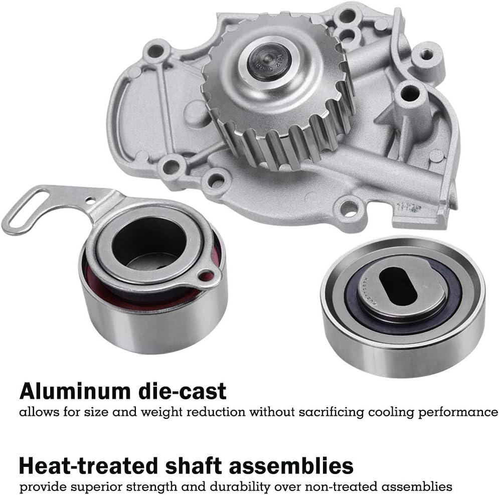 Timing Belt Kit w//Water Pump for 1994-2002 Honda Accord Odyssey 1998-1999 Isuzu Oasis 1997-1999 Acura CL Fits 2.2L//2.3L L4 Engine