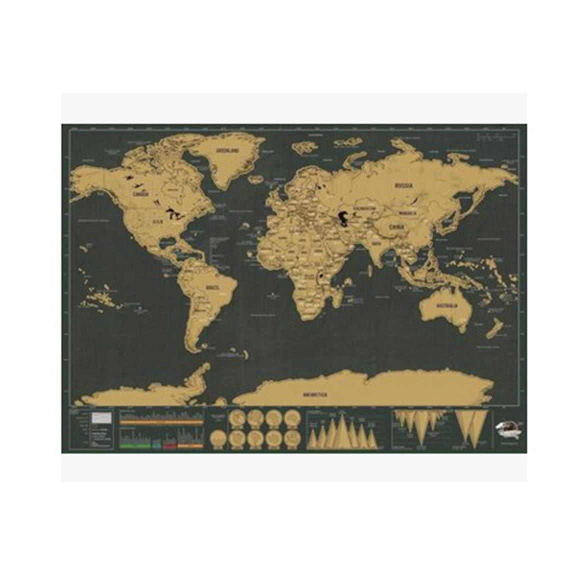 Erdkunde Karten Gre: L Scratch Map Weltkarte Semi-manual Hanging ...