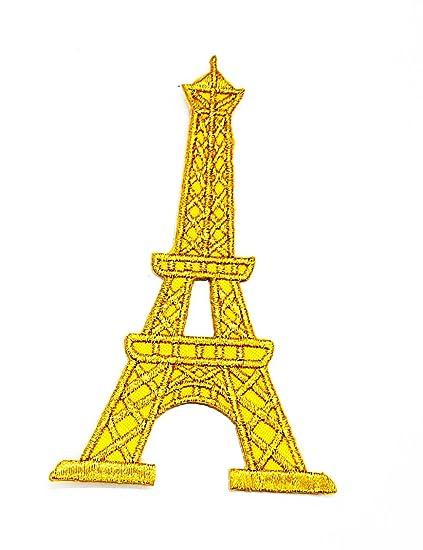 París Francia Francés Torre Eiffel Torre Eiffel de París dibujos animados y para planchar parche bordado