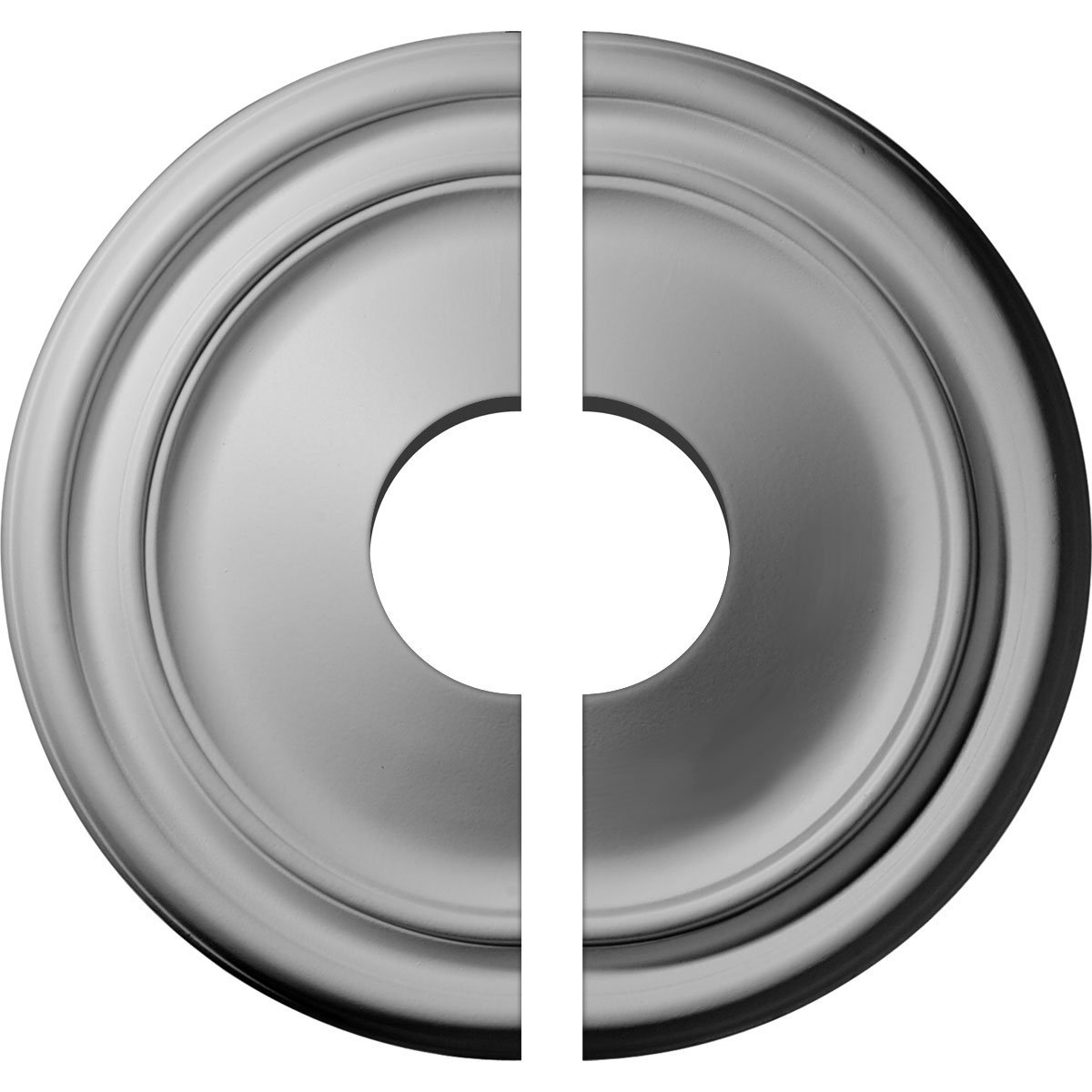 Ekena Millwork CM12RE2-03500 12'' OD ID x 1 3/4'' P Reece Ceiling Medallion, Two Piece (Fits Canopies up to 3 1/2''), Factory Primed and Ready to Paint