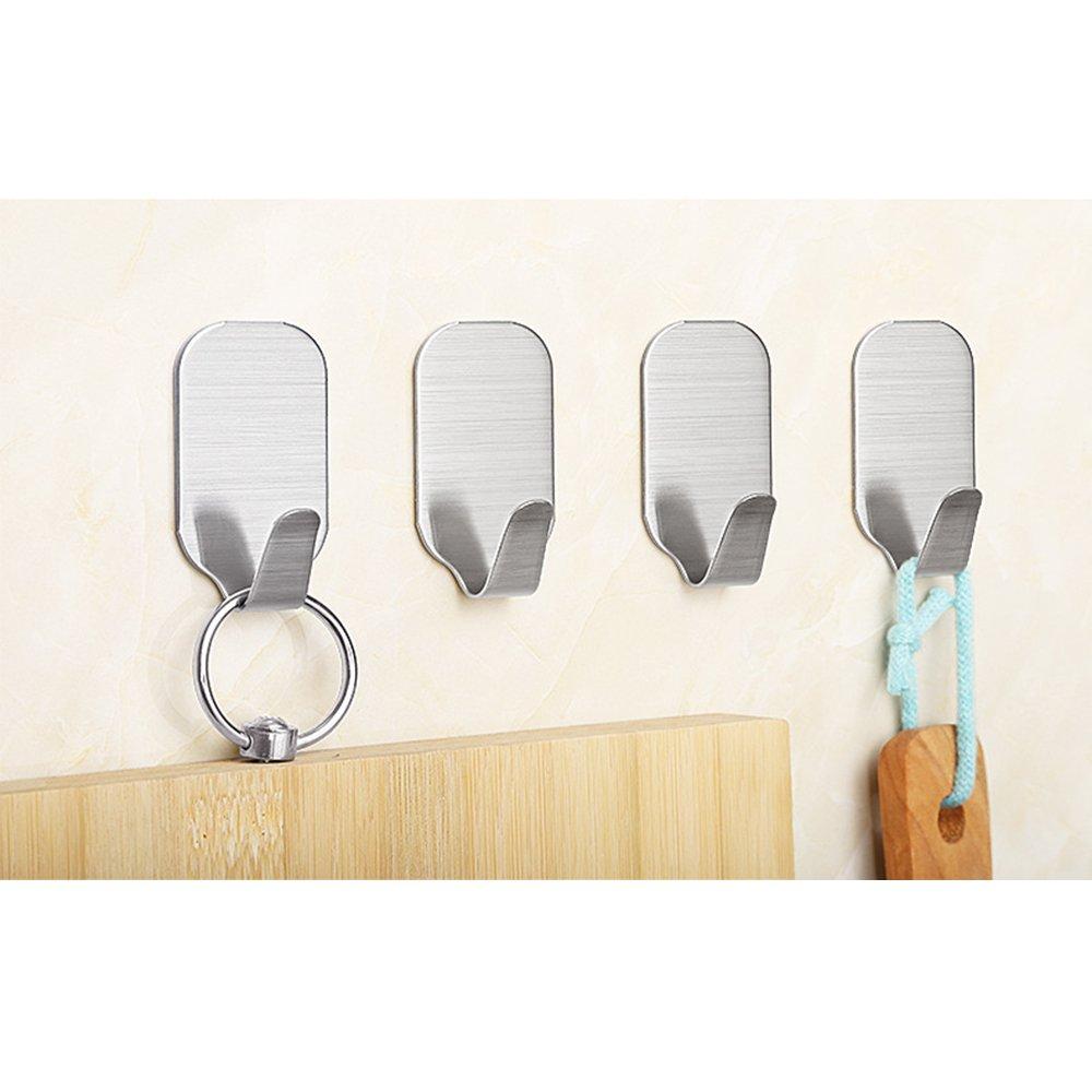 cucina con adesivo 3/m per bagno ganci da parete impermeabile in acciaio INOX ufficio armadio Hghmlife autoadesivo ganci appendiabiti da parete
