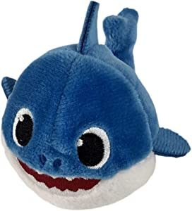 Pinkfong Baby Shark Mini Plush Daddy Shark - Fun Size Baby Shark Stuffed Beanie from Hit Song - Official Baby Shark Stuffed Animal Toy