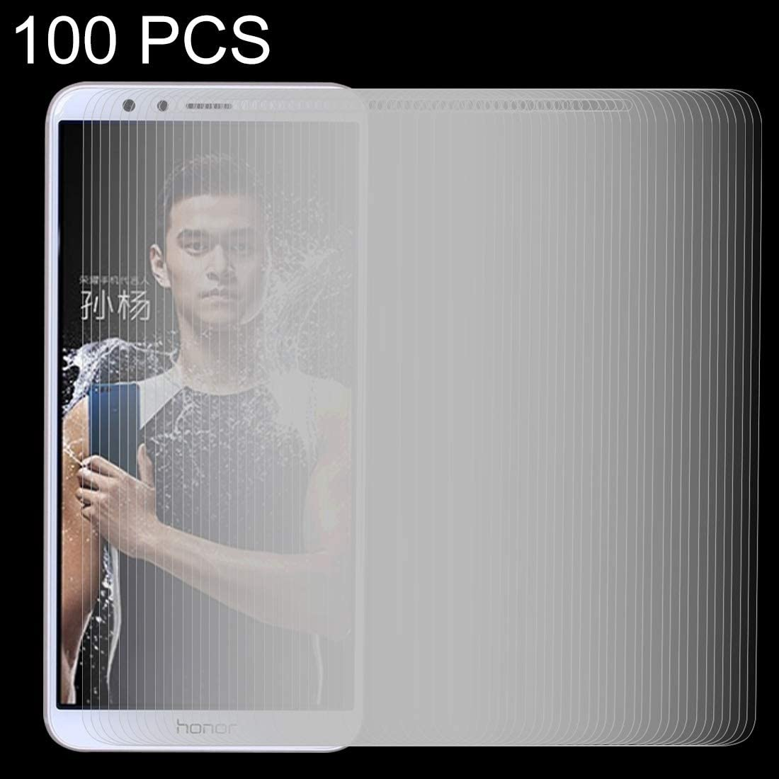 LGYD 100 PCS for Huawei Honor Play 7X 0.26mm 9H Surface Hardness 2.5D Explosion-Proof Tempered Glass Screen Film