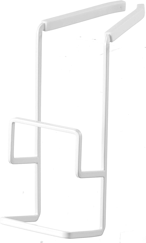 YAMAZAKI home 4390 Tower Faucet-Hanging Sponge Holder Double, White