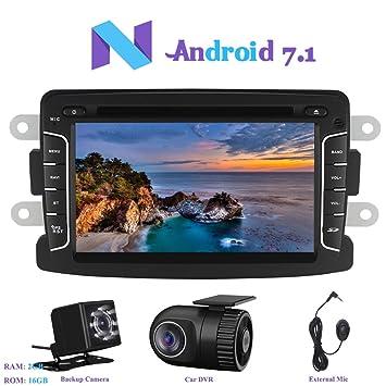 """Android 7.1 Autoradio, Hi-azul Radio de Coche 7"""" Navegación GPS RAM 2G"""